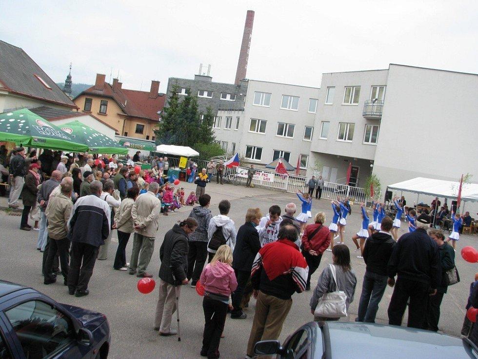 Z oslavy Svátku práce v Ústí nad Orlicí.