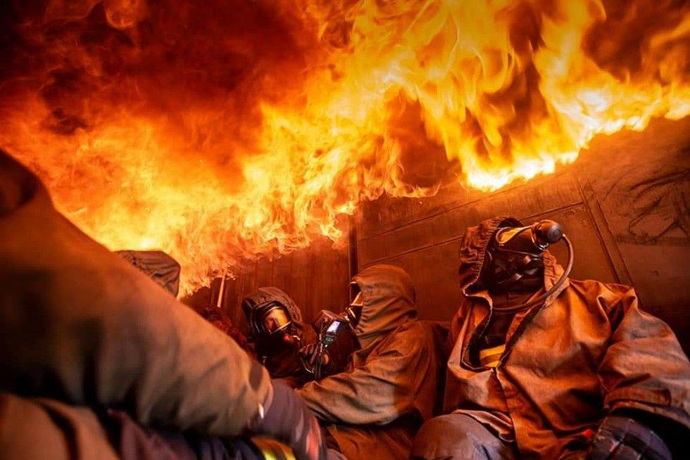 Výcvik hasičů.