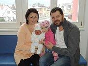 Ella Šejblová rozšířila rodinu Petry a Pavla z Ústí nad Orlicí. Narodila se 27. 11. v 8.08 hodin, kdy vážila 4,20 kg. Těší se na ni i sestřička Anička a dospělí  sourozenci Marika a Robin.