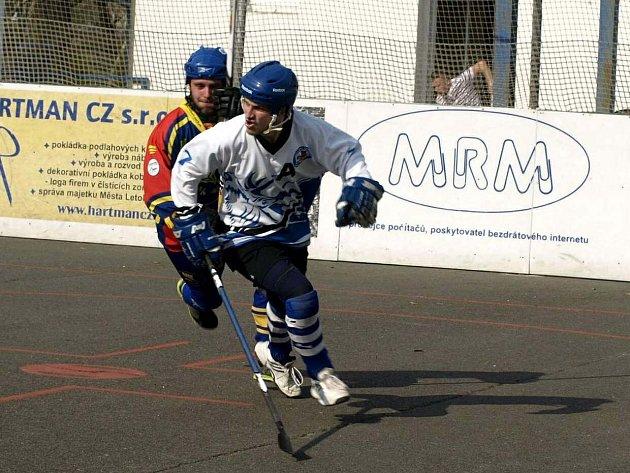 Letohradský hokejbalista Ondřej Lux.