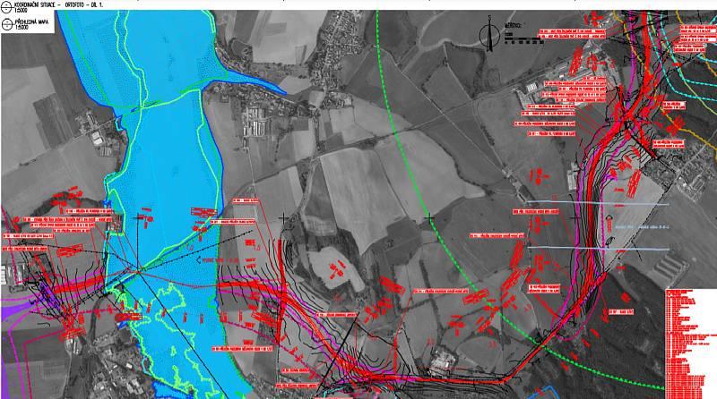 Koordinační situace ORTOFOTO, Zdroj: Město Choceň