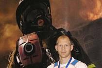 Lukáš Novák na Světových policejních a hasičských hrách v New Yorku.
