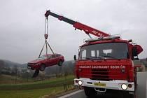 Nehoda v obci Vlčkovice.