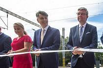 Generální ředitel Správy železnic Jiří Svoboda při slavnostním otevření modernizovaného nádraží v Letohradu.