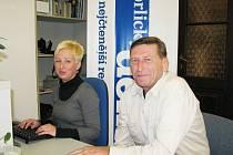 Augustin Karel Andrle a redaktorka Orlického deníku Šárka Mikulecká při on-line rozhovoru.