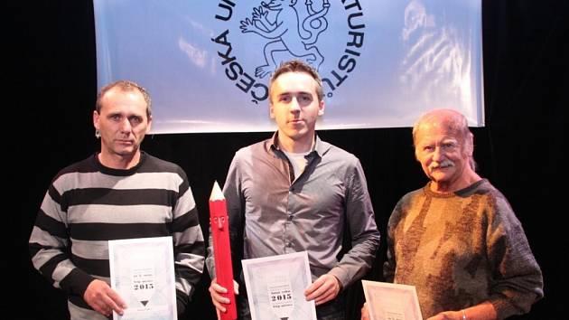 Marek Simon (uprostřed) je nejlepším kreslířem uplynulého roku.