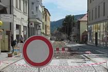 Uzavírka ulice T.G.M.