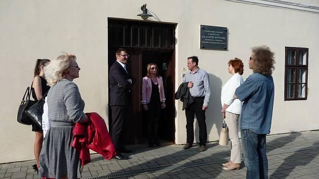 Z návštěvy představitelů Vysokého Mýta ve Spišské Belé.