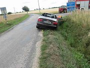 Havárie osobního automobilu u Koldína.