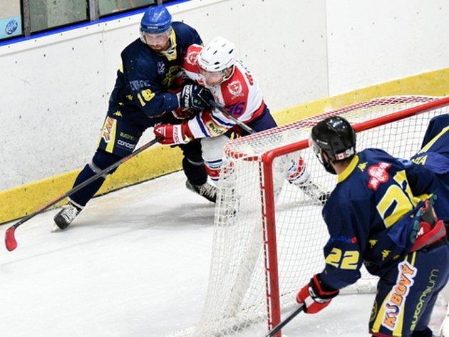 Krajská hokejová liga: HC Hlinsko - HC Spartak Choceň.