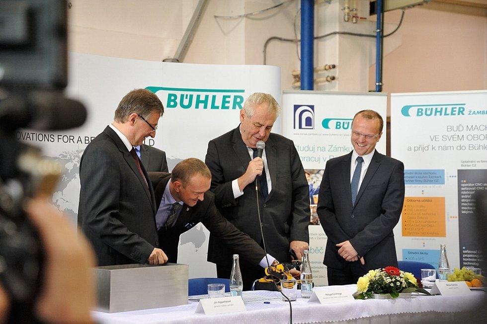 Prezident navštívil firmu Bühler CZ v Žamberku.