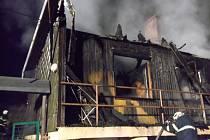 Požár rodinného domu v Rudolticích.