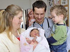 Markéta Hegerová je po Jakubovi druhým dítětem Jany a Jiřího z Lanškrouna. Na svět si 24. března v 6.51 přinesla 3,4 kg.