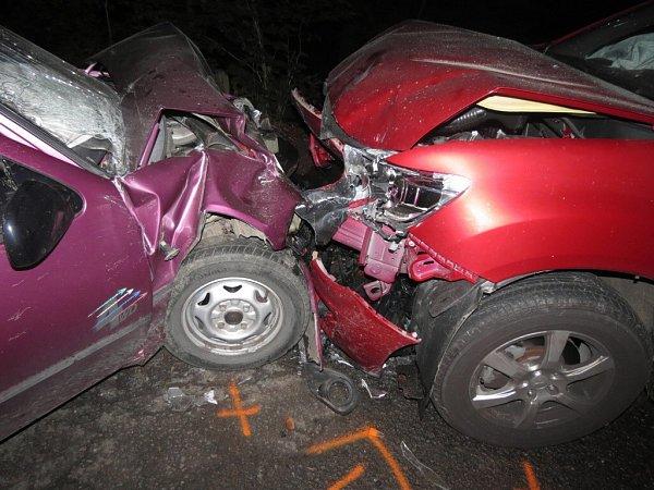 Dopravní nehoda vKunvaldu.