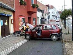 Následky havárie v Žamberku.