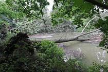 Následky bouřky v Ústí nad Orlicí