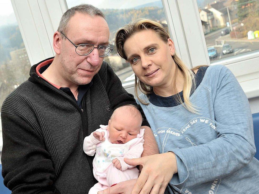 Simona Fröde poprvé spatřila svět 8. listopadu v 9.05 hodin. Radost z ní mají rodiče Ludmila Stráníková a Radim Fröde i bratři Filip a Daniel ze Semanína. Holčička vážila 3,48 kg.