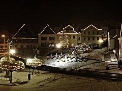Vánoce v Jablonném nad Orlicí.