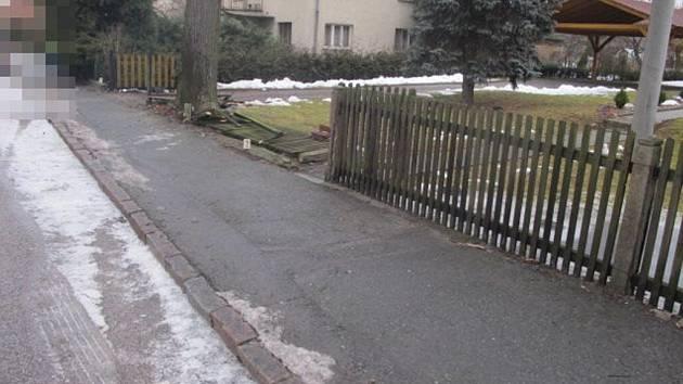 Z nehody v Dobříkově.