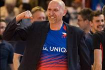 2018 - Marek fandí při utkání volejbalu.