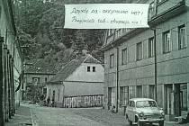 Ústecká ulice v Letohradě, 1968.
