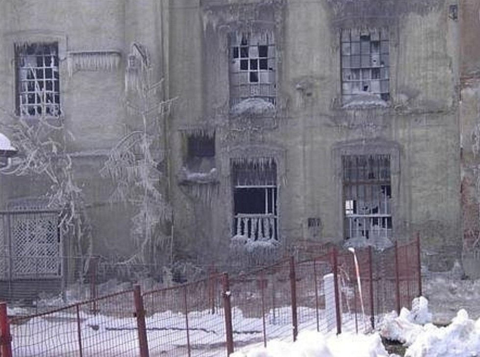 Mlýn v Letohradu po požáru v roce 2003.