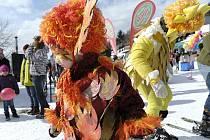 Čenkovický lyžařský areál hostil tradiční maškarní rej.