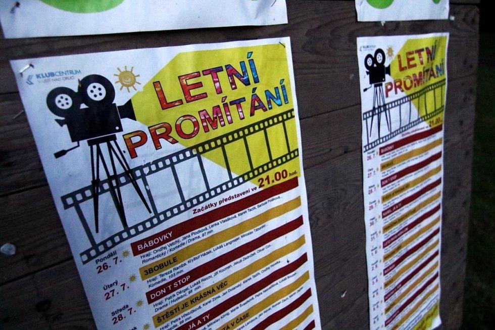 Letní kino v Ústí nad Orlicí.