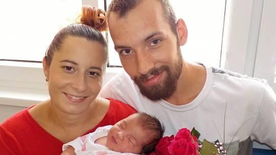 Eliška Holubová je první radostí pro Kateřinu Ondrákovou a Radovana Holuba ze Sázavy. Při narození dne 12. 7. v 8.23 hodin vážila 3580 g.