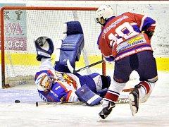 Krajská hokejová liga: HC Kohouti Česká Třebová - HC Hlinsko.