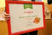Školka si převzala bronzový certifikát Skutečně zdravé školy.