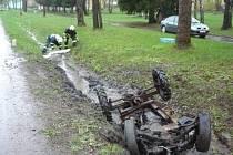 Havárie malotraktoru v Moravském Karlově.