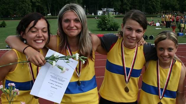 Ústecká štafeta vybojovala bronzové medaile.