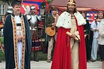 Středověké slavnosti k 700. výročí narození císaře Karla IV. v Lanškrouně.