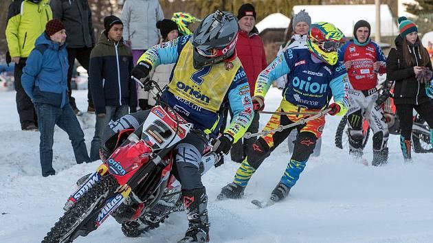 Závody v Klášterci otevřely nový ročník Mistrovství ČR v motoskijöringu.
