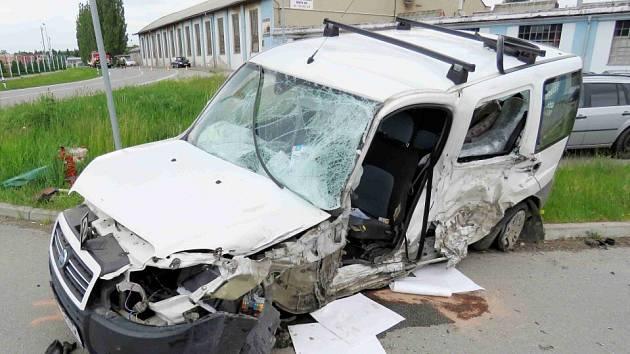 Z nehody v Chocni.