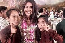 Momentka z Miss World v Číně.