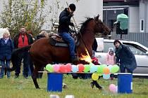 Zábavné odpoledne po Hubertově jízdě v Letohradu.