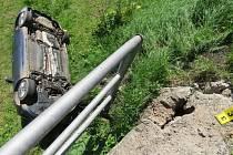 Havárie osobního automobilu mezi Písečnou a Žamberkem.