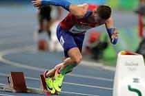 Česká jednička na 400 metrů Pavel Maslák.