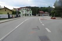 Z místa nehody v Jablonném nad Orlicí.