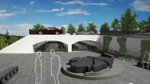 Dost místa pro automobily i bicykly. Pokud dopadne žádost o evropskou dotaci, dočká se Choceň velkých úprav přednádraží a lidé tady konečně dobře zaparkují.