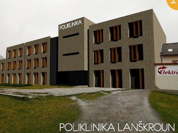 Vizualizace nové polikliniky vLanškrouně.