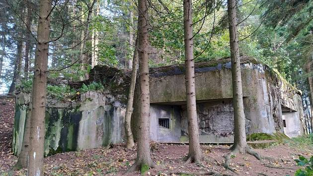 K-S 34 U Kapličky, kde Ferdinand Pazourek očekával útok nepřítele.