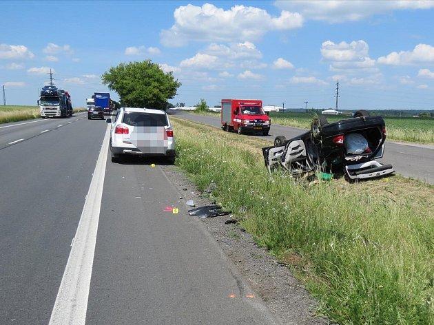 Z nehody, ke které došlo ve čtvrtek 7. června v 8.30 hodin na silnici I/35 mezi Zámrskem a Vysokým Mýtem.