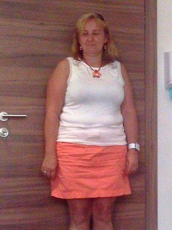 Hana Veselá před zahájením diety.