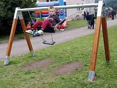 Zábavné odpoledne pro děti na novém hřišti u Orlovny v Letohradu - Orlici.