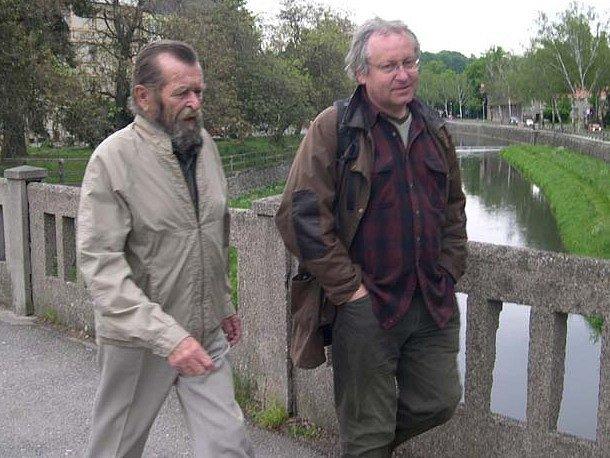 Václav Cílek a Jindra Dušek (vlevo).