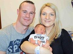 Ondřej Dospěl, tak se jmenuje první potomek Petry a Ondřeje z Čisté. Když se 8. ledna ve 23.42 hodin narodil, vážil 3,480 kg.