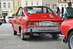 Sraz vozů Škoda 110R Coupé ve Vysokém Mýtě.